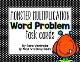 {Halloween} Multiplication Word Problem Task Cards