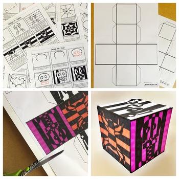 """""""Halloween Op Art Cubes"""" Lesson"""