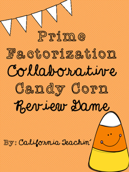 {Halloween} Prime Factorization Candy Corn Colaboration Re