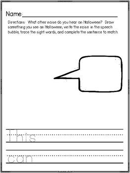"""""""Halloween Sounds"""" (A Halloween Emergent Reader Freebie)"""