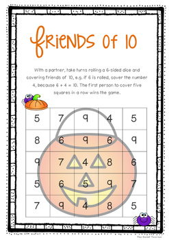 *Halloween Themed* Friends of 10 - FREE Activity Pack -