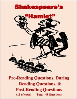 """""""Hamlet"""" Pre-Reading, During Reading, and Post-Reading Questions"""