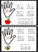 """Hand Here!"" Print Practice with Beginning Sounds"