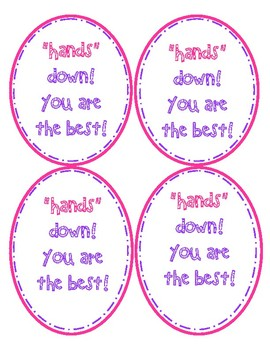 """""""Hands"""" Down! Gift Tags"""