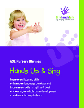 'Hands Up & Sing' ASL Book of 18 Nursery Rhyme songs - BUNDLE