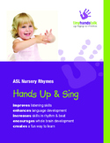 'Hands Up & Sing' ASL Book of 18 Nursery Rhyme songs - BUNDLE