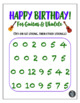 """""""Happy Birthday"""" Song - Poster & Handout for Guitar & Ukulele!"""