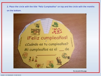 """Happy Birthday Wheel"". PDF Document."