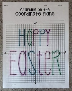 """""""Happy Easter"""" (Graphing on the Coordinate Plane/ Mystery Picture)"""