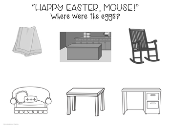 """Happy Easter, Mouse!"" Speech and Language Book Companion"