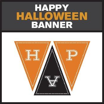 """Happy Halloween"" Printable Banner"