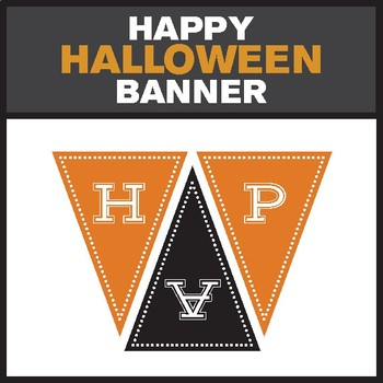 """Happy Halloween"" Printable Banner"