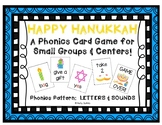 """Happy Hanukkah!"" - A Hanukkah (Chanukah) Themed LETTER-SOUND Phonics Card Game"