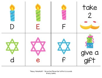 """Happy Hanukkah!"" - A Hanukkah (Chanukah) Themed LETTER-SOUND Phonics Card Game"