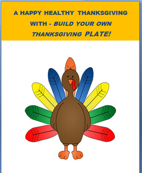 """Thanksgiving-""""Build a Thanksgiving plate Activity with safety tips"""
