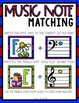 """Happy Hedgehogs"" Music Notes Matching Flashcard Fun!  Treble and Bass Clefs"