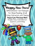 """""""Happy New Year"""" Literacy Morning Work w/ Text, Comprehension, and Writing"""