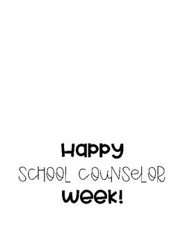 """Happy School Counselor Week!"" Card"