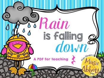#HappyBirthdayKodály: Rain is Falling Down {A PDF to teach quarter rest}