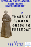 """""""Harriet Tubman: Guide to Freedom"""" Nonfiction by Ann Petry Reading Test"""