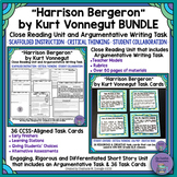 """Harrison Bergeron"" Bundle- Close Reading & Argumentative Writing w/ Task Cards"