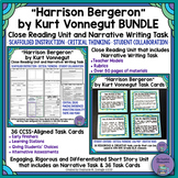 """Harrison Bergeron"" Bundle- Close Reading & Narrative Writing with Task Cards"
