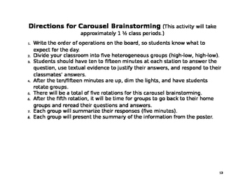 """Harrison Bergeron"" Short Story Close Reading, Carousel, & Viewing Guide"