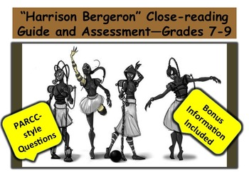 """Harrison Bergeron"" Close-reading Guide and Assessment—Grades 7-9"