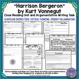 """Harrison Bergeron"" by Kurt Vonnegut Close Reading & Argumentative Writing Task"