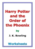 """""""Harry Potter and the Order of the Phoenix"""" worksheets"""