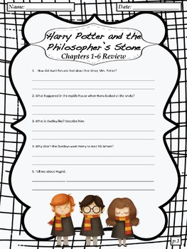 photograph regarding Harry Potter Activities Printable named Harry Potter And The Philosophers Stone Worksheets