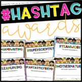 #Hashtag Student Award {End of the Year} EDITABLE!