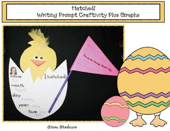 """Hatched!"" Writing Prompt Craftivity With 6 Graphs"