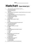 """Hatchet"" Quiz"