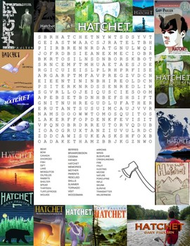 """""""Hatchet"""" Word Search Puzzle"""