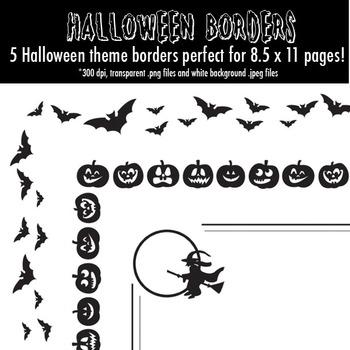 """Haunting"" Halloween Borders"