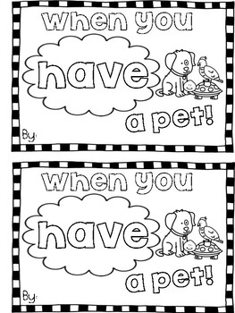 """""""Have"""" Sight Word Mini Book"""