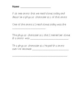 """""""Have You Ever Seen a Duck in a Raincoat?"""" Science Activity Sheet"""