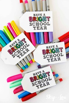 """""""Have a Bright School Year"""" Gift Tags"""