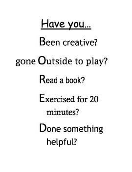 """""""Have you..."""" checklist"""
