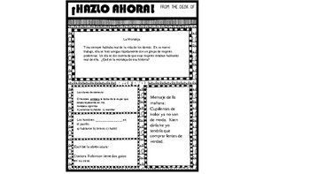 ¡Hazlo Ahora! packet 8 (Daily Warm up for Bilingual Students)