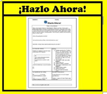 ¡Haz Ahora! Spanish STAAR warm up: Preparación diaria 5: