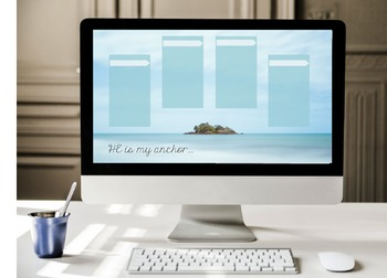 """He Is My Anchor"" Desktop Organizer (customizable)"