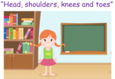 """""""Head, shoulders, knees and toes"""" table time activity"""