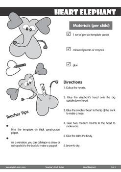 # Heart Elephant Craft