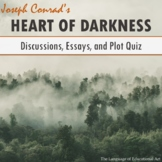 """Heart of Darkness"" Essay Topics, Rubric, and Plot Quiz (M"