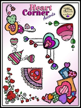 Heart Corner Accents Clipart