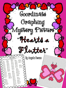 "Valentine's Day ""Hearts a Flutter"" Coordinate Grid Mystery Picture"