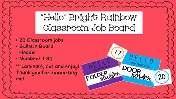 """Hello"" Bright Rainbow Classroom Bulletin Board"