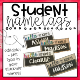 """Hello My Name Is"" Student Name Plates *Editable*"